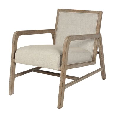 Coronado Armchair Upholstery: Sand, Finish: Natural