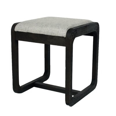 Coronado Ottoman Upholstery: Pepper, Finish: Ebony