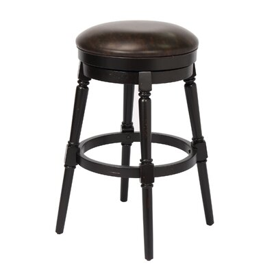 Almanzar 30 Swivel Bar Stool Frame Color: Black