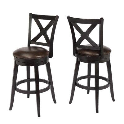Hassell 29 Swivel Bar Stool Frame Color: Black