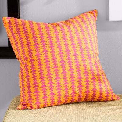 Duerr Cotton Throw Pillow Color: Mango, Size: 18 x 18
