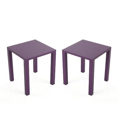 Chilson End Table Color: Purple