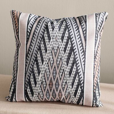 Dugger Indoor/Outdoor Throw Pillow Size: 18 H x 18 W, Color: Gray/Light Gray
