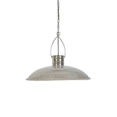 Causey Round Ribbed 1-Light Inverted Pendant
