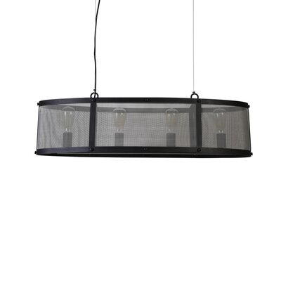 Manzella Wide 4-Light Drum Pendant