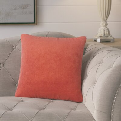 Cariati Solid Throw Pillow Color: Fire