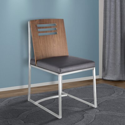 Bourque Upholstered Dining Chair Upholstery Color: Gray