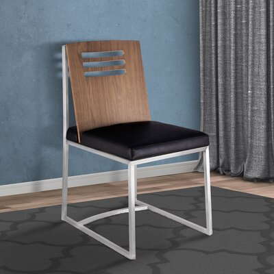 Bourque Upholstered Dining Chair Upholstery Color: Black