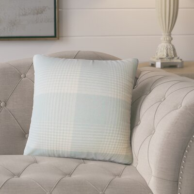 Gladding Plaid Cotton Throw Pillow Color: Seaglass