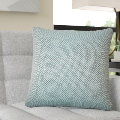 Reeser Geometric Throw Pillow Color: Teal