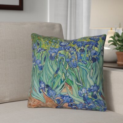 Morley Irises Indoor/Outdoor Throw Pillow Color: Orange/Green, Size: 16 x 16