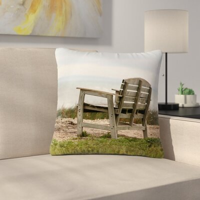 Angie Turner Beach Bench Outdoor Throw Pillow Size: 16 H x 16 W x 5 D