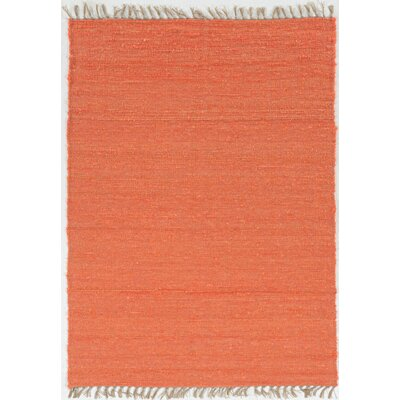 Christenson Hand-Woven Coral Area Rug Rug Size: Rectangle 35 x 65