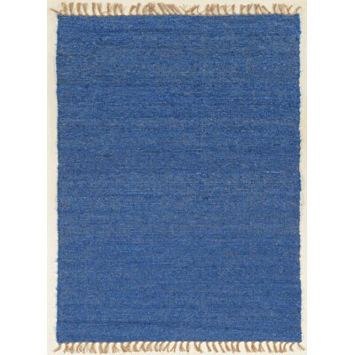 Christenson Hand-Woven Blue Area Rug Rug Size: Rectangle 53 x 76