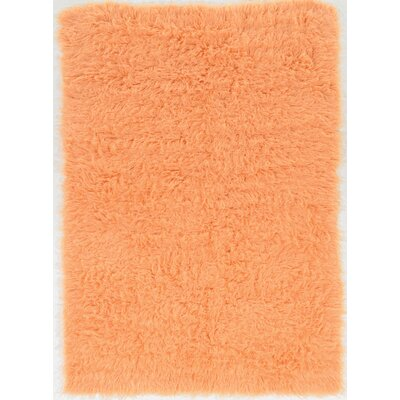 Ducharme Hand-Woven Wool Sherbet Area Rug Rug Size: Rectangle 8 x 10