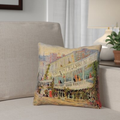 Bristol Woods Restaurant de la Sirene 100% Cotton Throw Pillow Size: 26 x 26