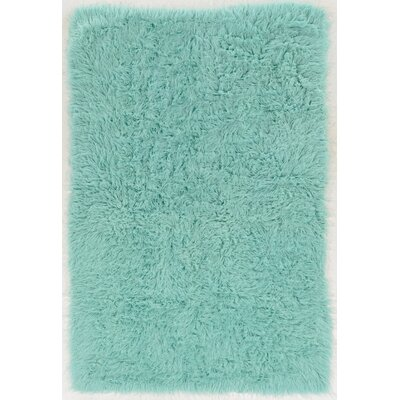 Ducharme Hand-Woven Wool Mint Area Rug Rug Size: Rectangle 36 x 566
