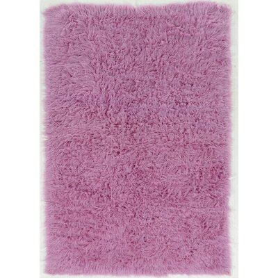 Ducharme Hand-Woven Wool Lilac Area Rug Rug Size: Round 8