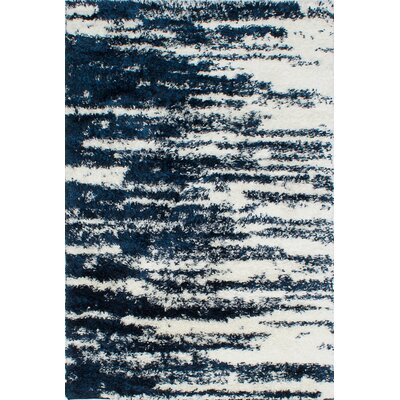 Cream/Dark Navy Area Rug