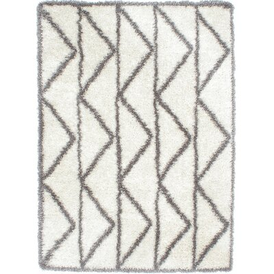 Cream/Dark Gray Area Rug
