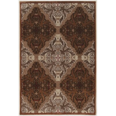 Bradley Junction Medallions Brown Area Rug Rug Size: Rectangle 8 x 103