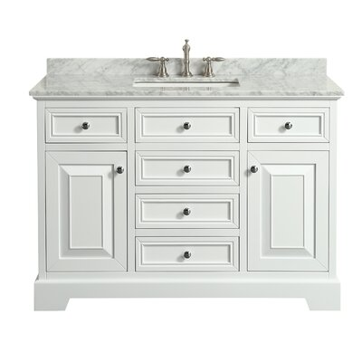 Catalan 48 Single Bathroom Vanity Set Base Finish: White