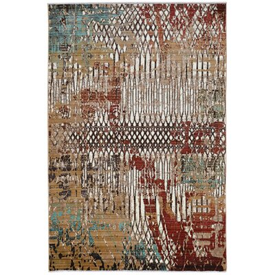 Crittenden Fence Beige Area Rug Rug Size: Rectangle 8 x 11
