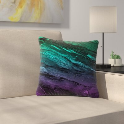Agate Magic Throw Pillow Size: 26 H x 26 W x 7 D, Color: Aqua / Purple