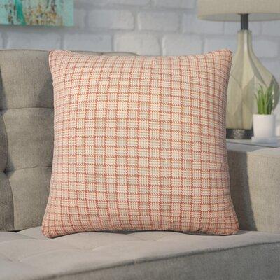 Wojcik Plaid Cotton Throw Pillow Color: Orange
