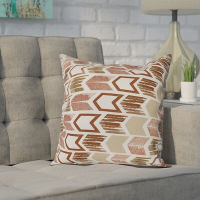 Waller Arrow Geometric Outdoor Throw Pillow Size: 18 H x 18 W, Color: Taupe