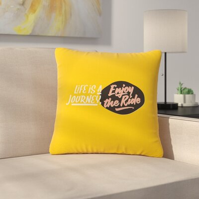 Juan Paolo Enjoy the Ride Vintage Outdoor Throw Pillow Size: 18 H x 18 W x 5 D