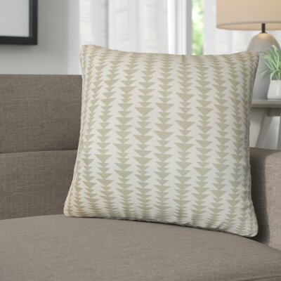 Lorelai Geometric Cotton Throw Pillow Color: Dove