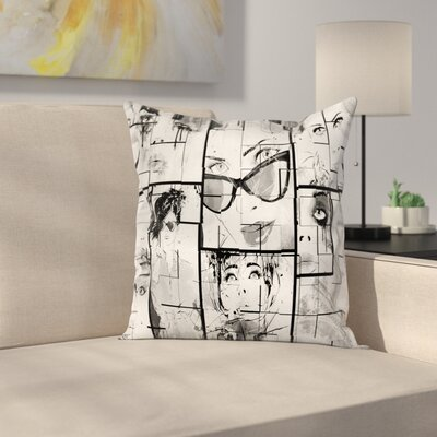 Eiffel Tower Decor Trendy Girl Square Pillow Cover Size: 24 x 24