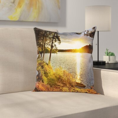 Sunset Forest Canada Square Pillow Cover Size: 16 x 16
