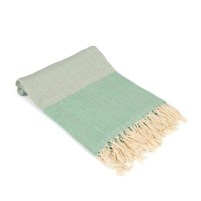 Vollmar Turkish Beach Towel Color: Green