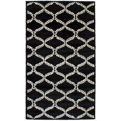 James Black Area Rug