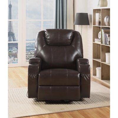 Despain Manual Swivel Rocker Recliner Upholstery: Brown