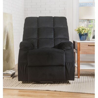 Despres Power Lift Assist Recliner Upholstery: Black