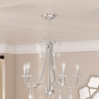 Devan 5-Light Semi Flush Mount Finish: Polished Chrome