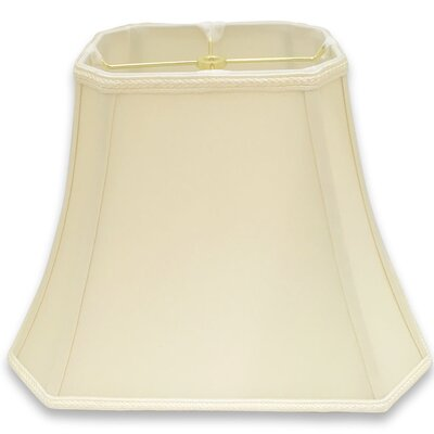 Cut Corner 16 Silk/Shantung Bell Lamp Shade Color: Eggshell