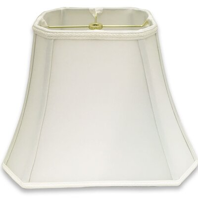 Cut Corner 16 Silk/Shantung Bell Lamp Shade Color: White
