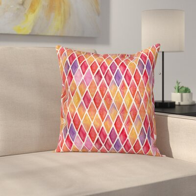 Diamond Shapes Mosaic Square Pillow Cover Size: 18 x 18
