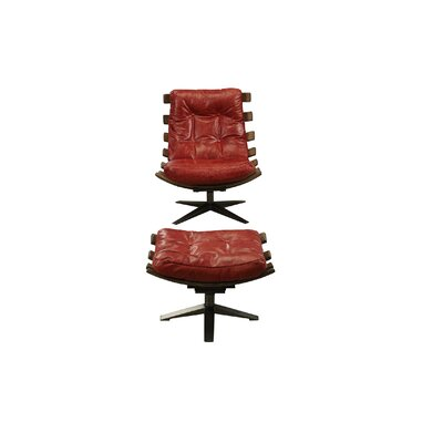 Demartini Lounge Chair Upholstery: Antique Red