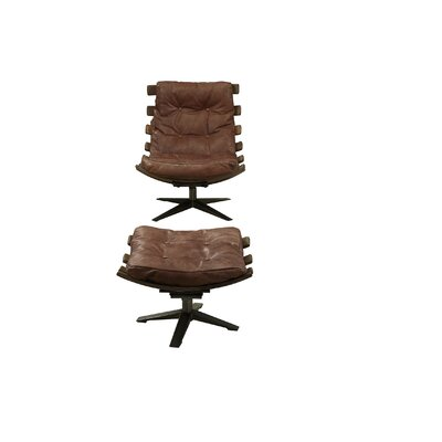 Demartini Lounge Chair Upholstery: Retro Brown