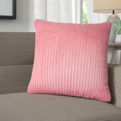 Galilea Solid Throw Pillow Color: Berry