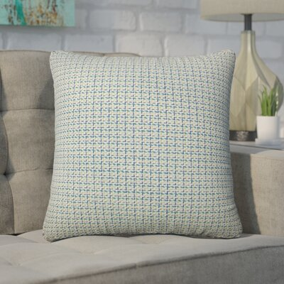 Wojciechowski Plaid Cotton Throw Pillow Color: Blue/Green