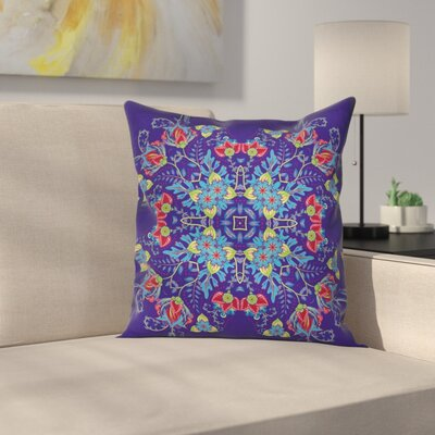 Bohemian Floral Bouquet Square Pillow Cover Size: 18 x 18