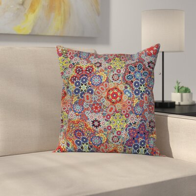 Paisley Decor Vintage Indian Square Pillow Cover Size: 20 x 20