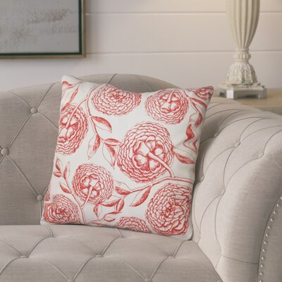 Jud Blooms Antique Flower Throw Pillow Size: 20 H x 20 W, Color: Coral