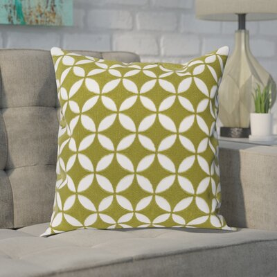 Baur Perimeter 100% Cotton Throw Pillow Cover Size: 22 H x 22 W x 1 D, Color: LimeWhite